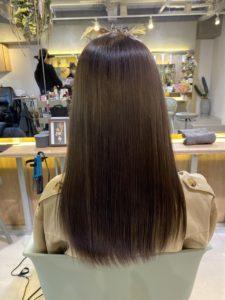 美髪カラーでサラサラ