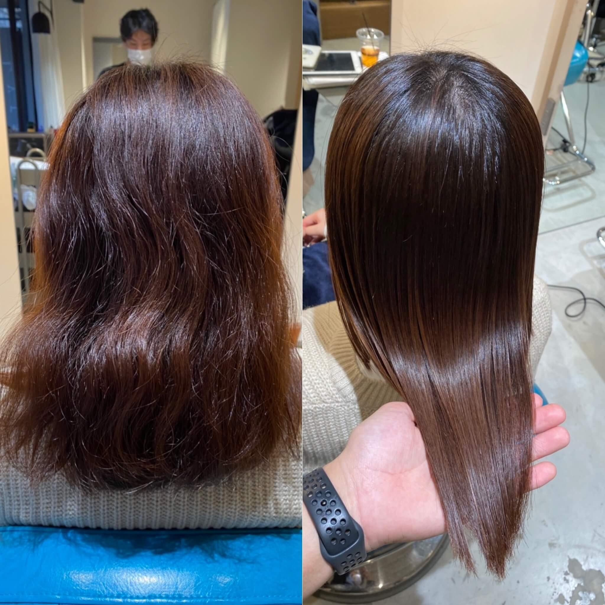 大阪梅田縮毛矯正髪質改善専門特化美容師